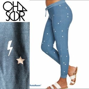 NWT CHASER Starry Bolts Pant Joggers sz S, M